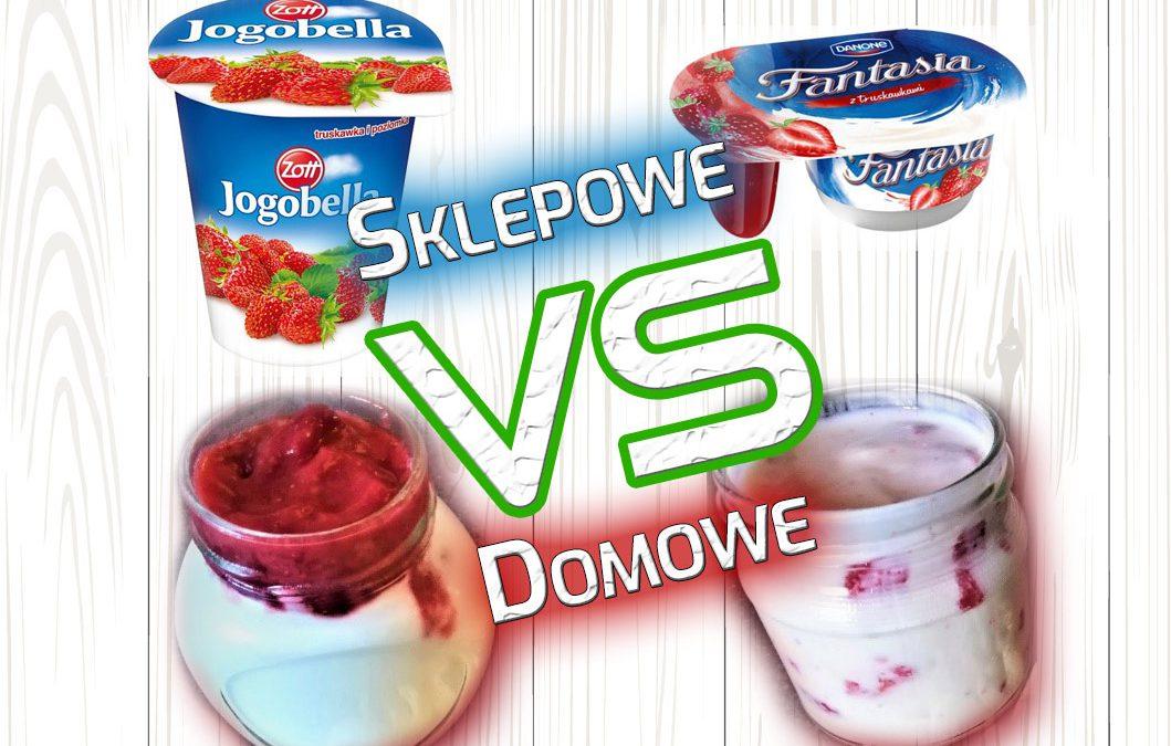 Sklepowe Jogurty truskawkowe kontra domowe — PORÓWNANIE iPRZEPIS